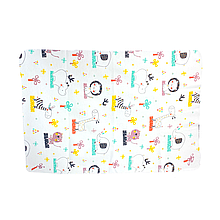 Многоразовые пеленки для детей бамбуковые 50*75 (Слон, лев, жираф)