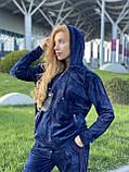 Жіночий спортивний велюровий костюм, (Туреччина *EZE*); Розміри:50,52,54,56 (наші повномірні) Колір: як на фото., фото 6
