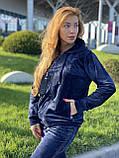 Жіночий спортивний велюровий костюм, (Туреччина *EZE*); Розміри:50,52,54,56 (наші повномірні) Колір: як на фото., фото 7