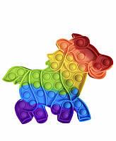 Игрушка-антистресс Pop It сенсорная игрушка, пупырка, поп ит антистресс лошадка