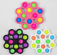 Игра антистресс М 46262 Pop it (Поп ит) Simple Dimple (Симпл Димпл), 16 см, 12 пупырок
