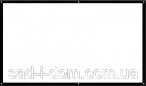 """Экран для проектора 72"""" 16:9 рулонный настенный натяжной UKC"""