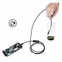 Цифровий ендоскоп камера водонепроникний з підсвічуванням HLV 2 метри 7 мм USB/micro USB