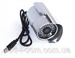 Зовнішня кольорова камера відеоспостереження вулична зовнішня CCTV 569 USB