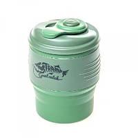 Складная кружка с крышкой Tramp TRC-082 350 мл силиконовый Green