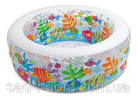 Дитячий надувний басейн Intex 58480 Акваріум