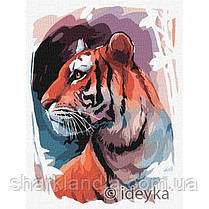 "Картина по номерам ""Взгляд тигра"" KHO4233 30х40 см Тигр Хищные"