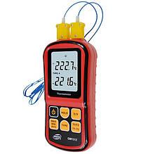 Цифровой двухканальный термометр Benetech GM1312 (от -50 до 300 ºC) с двумя термопарами К-типа