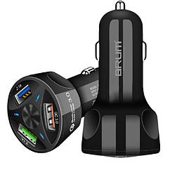 Автомобильное зарядное устройство Brum AQ002 Quick Charge 3.0  3,1A+2,4A 3*USB 35W