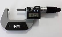 Микрометр цифровой KM-2133-50 / 0.001 (25-50 мм) в водозащищённом металлическом корпусе IP 65