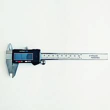 Штангенциркуль электронный KM-DSK-150 (0-150/0,01 мм; ±0.02 мм) с бегунком. C cертификатом от производителя