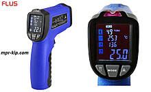 Пирометр Flus IR-818 (-50℃ до +750℃) с термопарой К-типа, измерением влажности и температуры воздуха, DEW