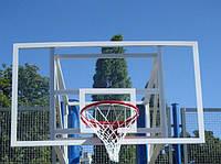 Баскетбольный щит  1800х1050 мм из оргстекла толщиной 10 мм с силовой антивибрационной металлической рамой, фото 1