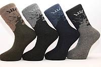 Мужские носки шерстяные высокие с махрой Кардешлер комбинирование   олени