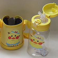 Детская бутылочка 550 мл с трубочкой для воды с сумочкой 49937