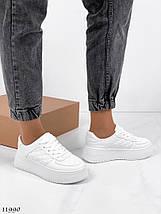 Белые кожаные кроссовки 11990 (ЯМ), фото 2