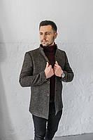 Мужское Пальто Люксембург стойка коричневе