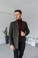 Мужское Пальто Люксембург 2 гудзики коричневе