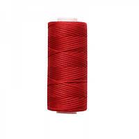 Нить вощеная плоская 1мм (100м) красная