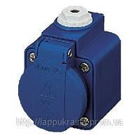 Розетка кабельная MENNEKES 16A 2P+З 230V класс защиты IP44 синяя