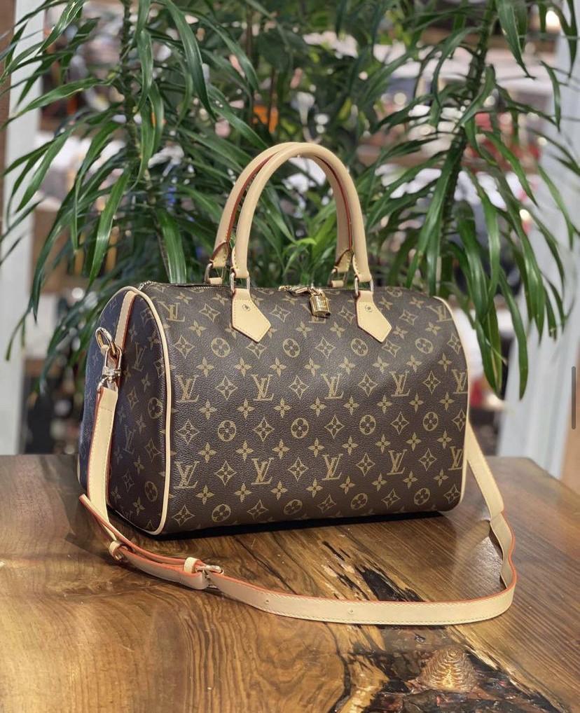 Женская сумка/модная сумка/коричневая сумка Louis Vuitton (люкс копия.)