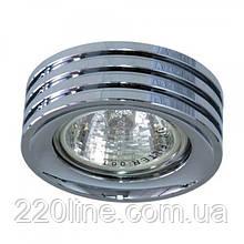 Вбудований світильник Feron DL233 хром