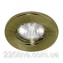 Вбудований світильник Feron DL10 античне золото