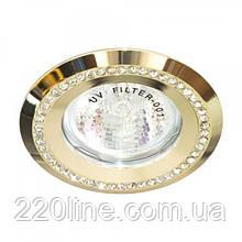 Вбудований світильник Feron DL103-C прозорий золото