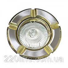 Вбудований світильник Feron 098Т MR-16 титан золото