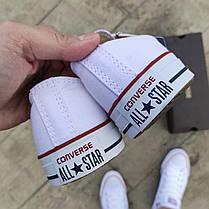 Кеды Converse Chuck Taylor All Star White кеды конверсы низкие ТЕКСТИЛЬНЫЕ летние мужские, фото 2