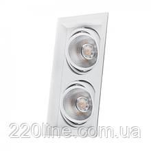 Карданный светильник Feron AL202 2xCOB 12W белый