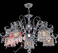 Люстра хрустальная для зала, спальни на 5 лампочек 2317/5 хром