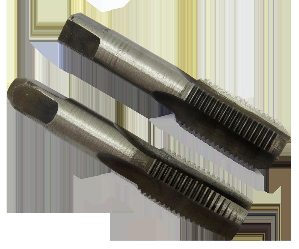 Мітчик трубний G1/8 9ХС, ручний комплект із 2-х штук, для трубної циліндричної різьби