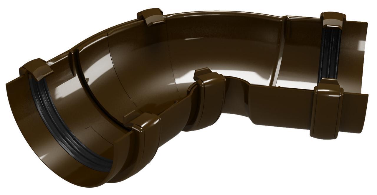 Угол универсальный 60-160°. Водосточная система ПВХ REGENAU 125 коричневая, белая, графит