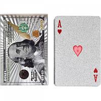 """Гральні карти """"Долар"""" 14-99 сріблясті 54 шт"""
