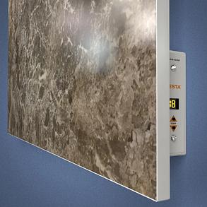 Керамічний обігрівач інфрачервоний VESTA 800 Вт з терморегулятором і ніжками сірий, фото 2