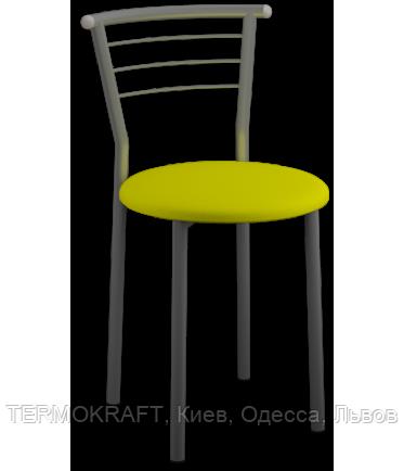 Стілець Marco Alum кожзам жовтий для кухні, бару, літнього майданчика