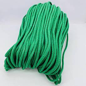 Шнур хлопковый плетеный без сердечника 6 мм 100 м зеленый