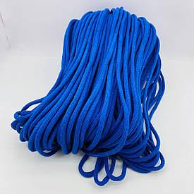 Шнур хлопковый плетеный без сердечника 5 мм 100 м синий