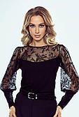 Блузка вечерняя черного цвета Ginger Eldar, коллекция осень-зима 2021-2022