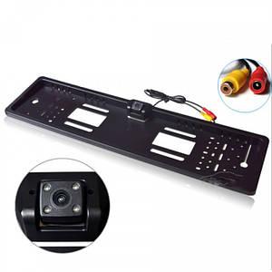 Камера заднього виду у рамці номери JX-9488 рамка
