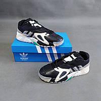 Мужские кроссовки Adidas Streetball черные с белым