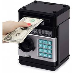 Іграшковий сейф скарбничка Coins & Bills Bank Safe Чорний