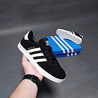 Мужские кроссовки Adidas Gazelle черные 45р.