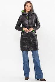 Тепла легка демісезонна куртка нижче стегна з капюшоном молодіжна світла куртка розмір від 44 до 54