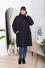 Жіночий стильний пуховик CoolZika Зн-4, чорний
