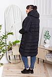 Жіночий стильний пуховик CoolZika Дт-4, чорний, фото 3