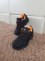 Термо мужские кроссовки черные Merrell Vibram. Мужские зимние кроссы Мерелл Вибрам черные на осень