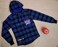 Рубашка для мальчиков, р. 140-176 рост, синий
