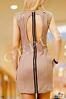 Платье с заклепками на плечах, 1192, фото 1